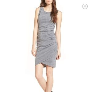 Leith Gray Sleeveless Ruched Dress Gray Size Med